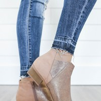 Ladies Night Booties - Gold