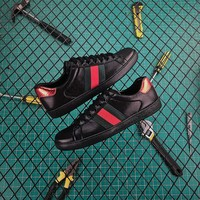 Gucci Ace Leather Sneaker Black - Best Online Sale