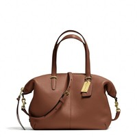 BLEECKER SMALL COOPER SATCHEL IN PEBBLED LEATHER