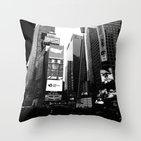 Time Square Throw Pillow by GalerieBavard