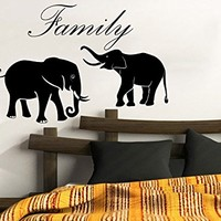 Family Of Elephants Wall Decals Animal Elephant Vinyl Decal Sticker Home Interior Design Art Mural Nursery Home Bedroom Decor C415