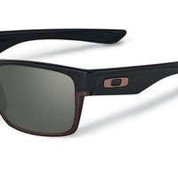 Oakley Men's Two Face OO9256-01 Rectangular Sunglasses