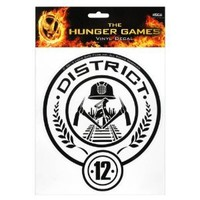 """The Hunger Games Movie """"District 12"""" Laptop Decals"""