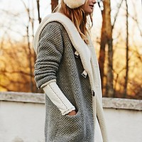 Free People Womens Oh So Cozy Cardi