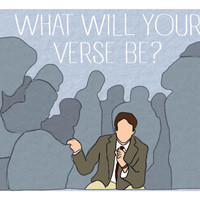 "Dead Poets Society ""What Will Your Verse Be?""  Print"