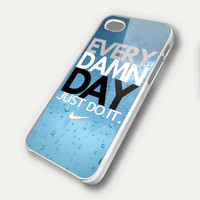 Every Damn Day JUST DO IT Nike TM00 iPhone 5 Case  by DeluxeCase