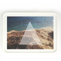 Bermuda Triangle - MANY SIZES - Real Photography Nature Landscape Triangle Geometry Typography Tribal Tranquil Positive Art Print