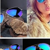 TrendyQueen-Retro Aviator Sunglasses Vintage Mirror Lens New Men Women Fashion Frame Glasses = 1905865732