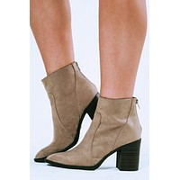 Make It Happen Booties: Taupe
