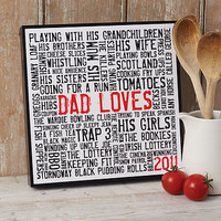 personalised '? loves' typographic art by more than words | notonthehighstreet.com