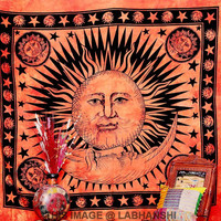 Hippie Hippy Wall Hanging Indian Sun Tapestry Beach Throw Bedspread Bed Decor Sheet Ethnic Decorative Art