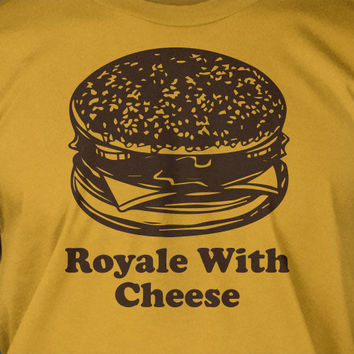 Royale With Cheese - Pulp Fiction Screen Printed T-Shirt Tee Shirt T Shirt Mens Ladies Womens Funny Geek