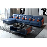 Luxurious Fresh Look Modern Leather Sectional Sofa Set
