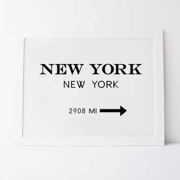 PRINTABLE Art, NEW YORK,New York America,Best Words,Black And White,Printable Quote,Office Decor,Modern Wall Art,Inspirational Poster