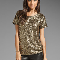 Style Stalker Goldfinger Sequin Tee in Gold from REVOLVEclothing.com
