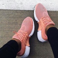 """NIKE""Air Presto Women Men Fashion Running Sport Casual Shoes Sneakers Pink-small wine red hook H-AA-SDDSL-KHZHXMKH"