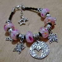 Custom Orders -Leather Inspired Charm Bracelets from Pelhuaz by Red