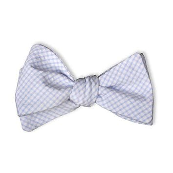 Light Blue Gingham Bow Tie by High Cotton