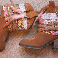 Leather cowboy boots by rougepony on Etsy