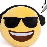 Emoji Music Guy Pillow