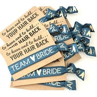 Team Bride Bachelorette Party Hair Tie Favor | To have and to hold your hair back