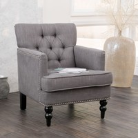 Christopher Knight Home Malone Charcoal Grey Club Chair | Overstock.com Shopping - The Best Deals on Living Room Chairs
