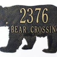 Bear Address or Name  Plaque