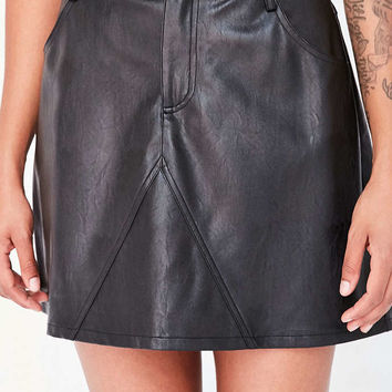 Silence + Noise Vegan Leather A-Line Mini Skirt - Urban Outfitters