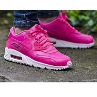 NIKE AIR MAX 90 fashion ladies men running sports shoes sneakers F-PS-XSDZBSH gold