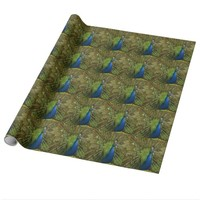 Peacock Pring Wrapping Paper