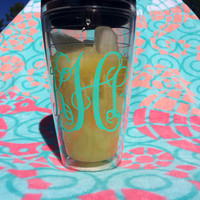 Monogram Tumbler Cup with lid