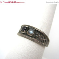 SALE Vintage Spinal and Sterling Ring