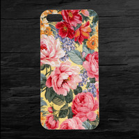 Flowers Floral Print iPhone 4 and 5 Case