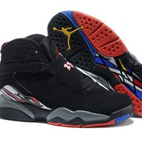 Air Jordan 8 Retro Black/Red Basketball Shoes 40-47