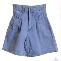 Denim Shorts Stone Wash With Two Pockets
