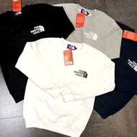 The North Face cotton and velvet sweater