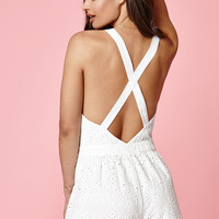 Kendall and Kylie Eyelet Romper at PacSun.com
