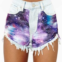 UNIF Space Out Cutoff Shorts