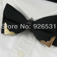 High-grade bowtie/classic color/black and white/metal head/han edition men's boutique bow ties,free shipping
