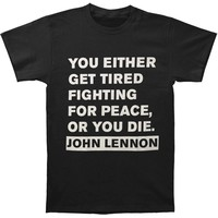 John Lennon Men's  John Lennon Get Tired T-shirt Black