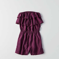 Don't Ask Why Ruffle Romper , Purple