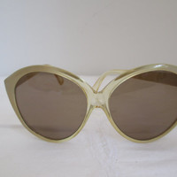 vintage sunglasses from the 70's yellow frame big glasses shades- the future looks bright