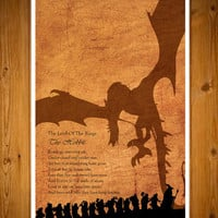 """The Hobbit - The Lord of the Rings  11X17"""" poster"""