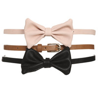 Bow Skinny Belt Set | Shop Accessories at Wet Seal