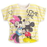 Minnie and Mickey Mouse ''Love Me'' Tee for Women | Disney Store