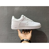 KAAT Originals Nike Air Force One 1 Classic Low All White Shoes AF1 '07 315122-111
