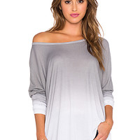 Omega Oversized Tee in Dove Ombre Wash