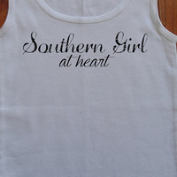 Southern Girl and Southern Girl At Heart Ribbed Tank Country Tank Top