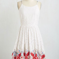 Long Sleeveless Fit & Flare On Your Bouquet List Dress