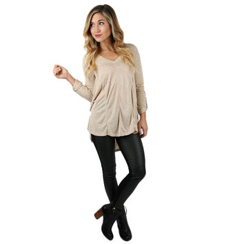 Comfort Chic Top in Taupe